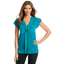 Jones New York Signature® Petites' Shoulder Tab Top