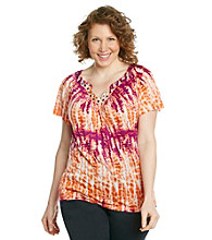 AGB® Plus Size Crinkle Top