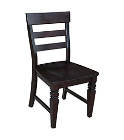 International Concepts Java Set of 2 Ladderback Wood Dining Chairs