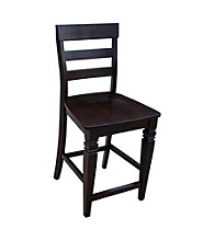 International Concepts Java Ladderback CounterheightStool