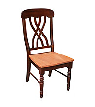 International Concepts Set of 2 Latticeback Wood Dining Chairs