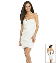 Emerald Sundae® Juniors' Ivory Studded Tube Dress