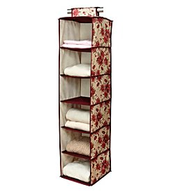 Laura Ashley® Milner Cranberry 6-Shelf Organizer