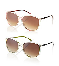 Icon Clear With Neon Pop Sunglasses