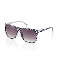 Icon Black And White Glitter Zebra Retro Style Sunglasses