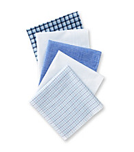 John Bartlett Statements Men's Blue 5-Pocket Boxed Handkerchiefs