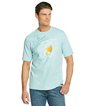 Paradise Collection® Men's Allie Aqua Short Sleeve Northshore Crew Tee