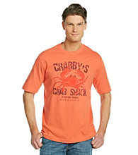 Paradise Collection® Men's Melon Orange Short Sleeve Crab Shack Crew Tee