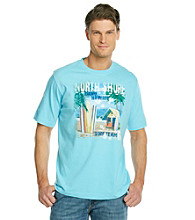 Paradise Collection® Men's Aquamarine Short Sleeve Surf Shop Crew Tee