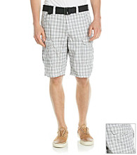 DKNY JEANS® Men's White Check Cargo Short