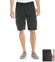 DKNY JEANS® Men's Black Overdyed Canvas Cargo Short