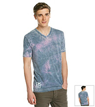 DKNY JEANS® Men's Riptide Short Sleeve Double Burnout V-Neck Tee