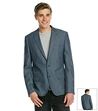 DKNY JEANS® Men's Chambray Blue Dot Blazer