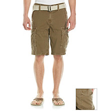DKNY JEANS® Men's Khaki Overdyed Canvas Cargo Short