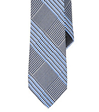 Lauren® Men's Navy Prince of Wales Printed Silk Tie