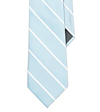 Lauren® Men's Blue Striped Silk Tie