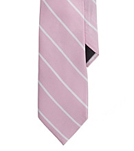 Lauren® Men's Pink Striped Silk Tie