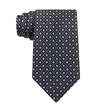 Izod® Men's Black Core Neat Silk Tie