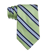 Izod® Men's Green Core Stripe Silk Tie