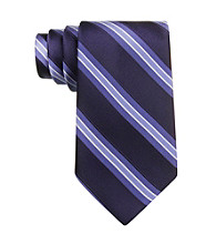 Izod® Men's Navy Core Stripe Silk Tie