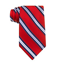 Izod® Men's Red Core Stripe Silk Tie
