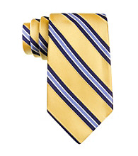 Izod® Men's Yellow Core Stripe Silk Tie