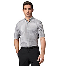 Van Heusen® Men's Short Sleeve Mini Check Woven