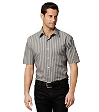 Van Heusen® Men's Grey Gargoyle Short Sleeve Striped Shirt