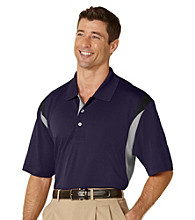 PGA TOUR® Men's Navy Three Color Stacked Polo