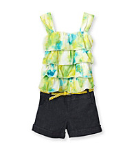 Jolt® Girls' 7-16 Yellow/Green Tiered Romper
