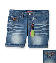 Squeeze® Girls' 7-16 Medium Wash Butterfly Back Pocket Bermudas