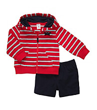Carter's® Baby Boys' Red Striped Cardigan Set