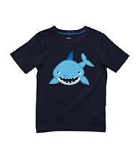 Carter's® Baby Boys' Navy Short Sleeve Shark Tee