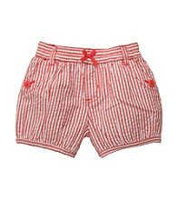 Carter's® Baby Girls' Orange Striped Woven Shorts