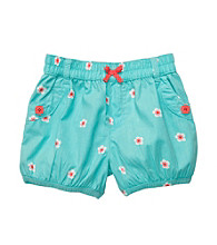 Carter's® Baby Girls' Blue Schiffli Woven Shorts