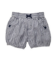 Carter's® Baby Girls' Navy Striped Woven Shorts