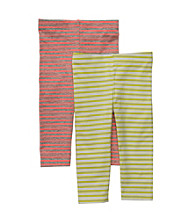 Carter's® Baby Girls' Orange/Lime Striped 2-pk. Leggings Set
