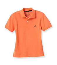 Nautica® Boys' 8-20 Short Sleeve Solid Pique Polo