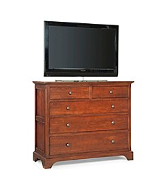 Cresent Retreat Cherry Finish Small Media Dresser
