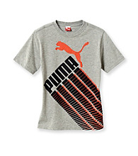 PUMA® Boys' 8-20 Grey Short Sleeve Racing Tee