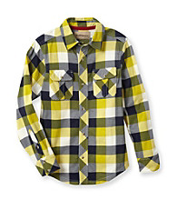 Ruff Hewn Boys' 8-20 Long Sleeve Knit Plaid Shirt