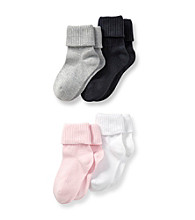 Miss Attitude Girls' Pink/Camo 4-pk. Roll Socks