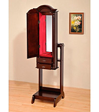 Acme Ibiza Cherry Finish Jewelry Armoire