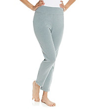 KN Karen Neuburger Inspire Knit Ankle Zip Pants - Grey