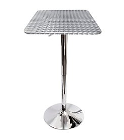 Lumisource® Bistro Adjustable Bar Table with Square Top