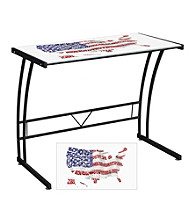 Lumisource® USA Flag Map Expression Collection Sigma Desk