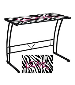 Lumisource® Zebra Love Expression Collection Sigma Desk