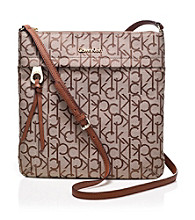 Calvin Klein Khaki/Brown Key Item Jacquard Crossbody