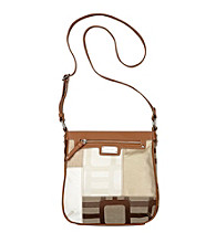 Nine West® Ecru Vegas Signs Patchwork Medium Crossbody