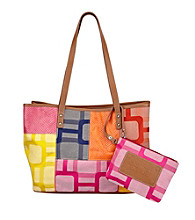 Nine West® Cobalt Multi Vegas Signs Patchwork Medium Shopper
